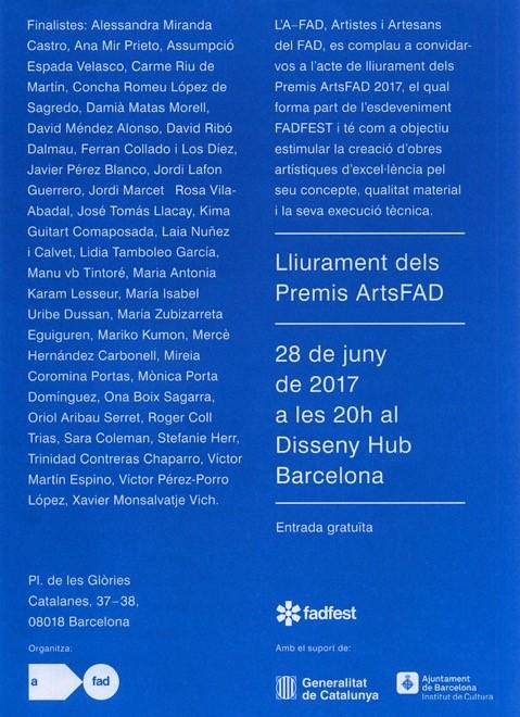 Lliurament dels Premis ArtsFAD