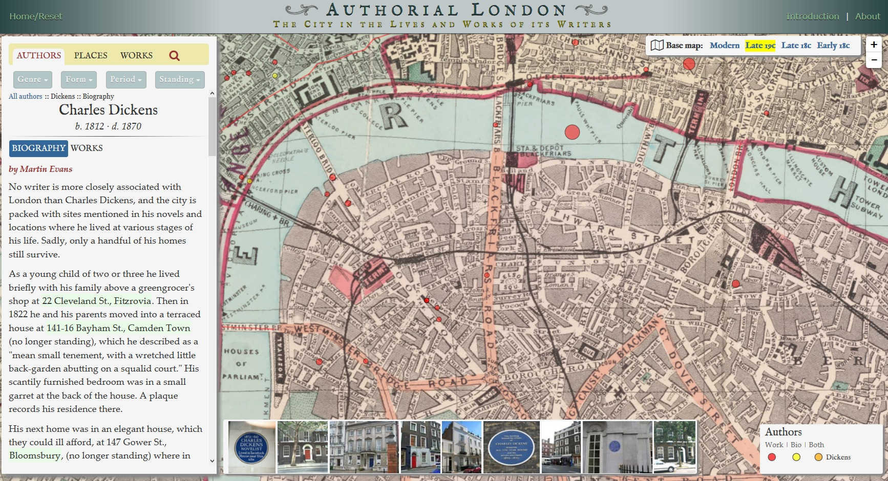 Map Over London.Literary Geography Of London Over Ancient Maps