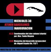 PRESENTACIÓN MUESTRA DE CINE INDEPENDIENTE CUBANO, BARCELONA 2013