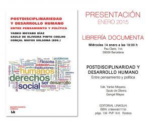 Libreria Documenta, 14-01-2015, 19:00 h