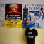 Brindisi: an inside view of the headquarters of the movement «No al carbone», born out of the protest against the coal-fired power station and engaged in a variety of social and environmental issues in the area.