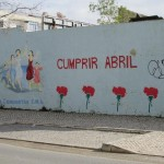 "A mural evoking the social and collective memory of the Carnation Revolution in Setúbal: ""Cumprir Abril"" (To Accomplish April)"