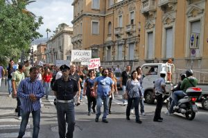 Protest in Reggio Calabria, October 2012 [photo: General Cucombre, cc by]