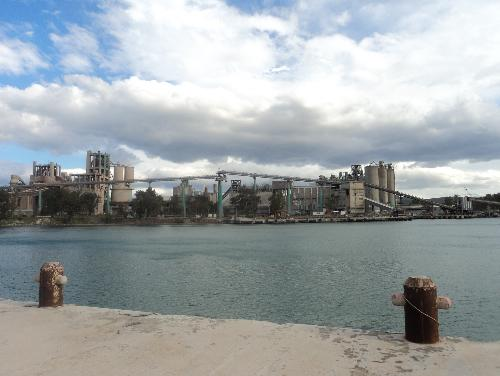 The cement Factory of Chalkida, one of the many closed down industries