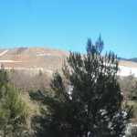 Mining extraction site