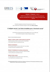 Seminari Permanent GEDES 15-16