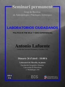 Laboratorios ciudadanos - Antonio Lafuente 26.4.16