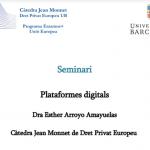 4, 8, 18, 25 y 29/10/2021: Seminario «Plataformas digitales»