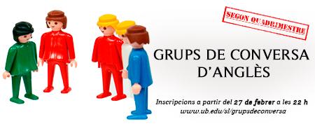 Grups de conversa d'anglès