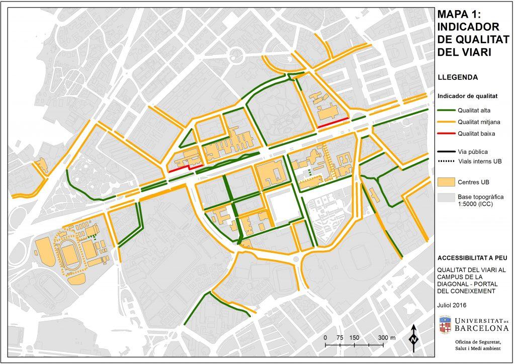 Mapa Indicador Qualitat Viari Campus Diagonal