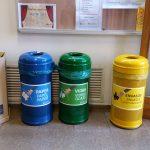 Contenidors de residus a Belles Arts