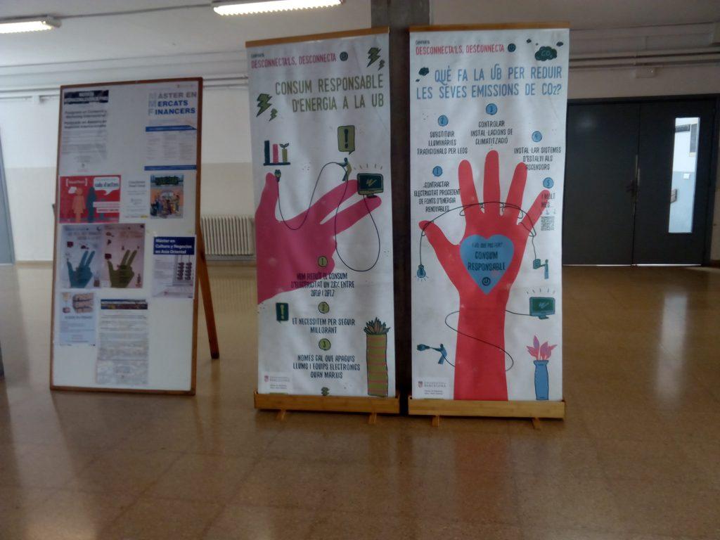 Exposició Desconnecta'ls, Desconnecta a la Facultat d'Economia i Empresa 696