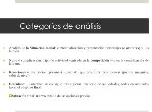 categorías análisis