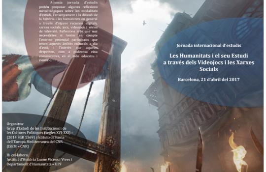 Jornada internacional d'estudis. Les humanitats i el seu estudi a través dels videojocs i les xarxes socials