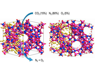 Capture and Separation of Gases by Adsorbent Materials
