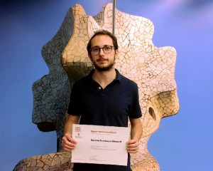 MSc in Economics student Gerard Domènech after the ceremony. / JR