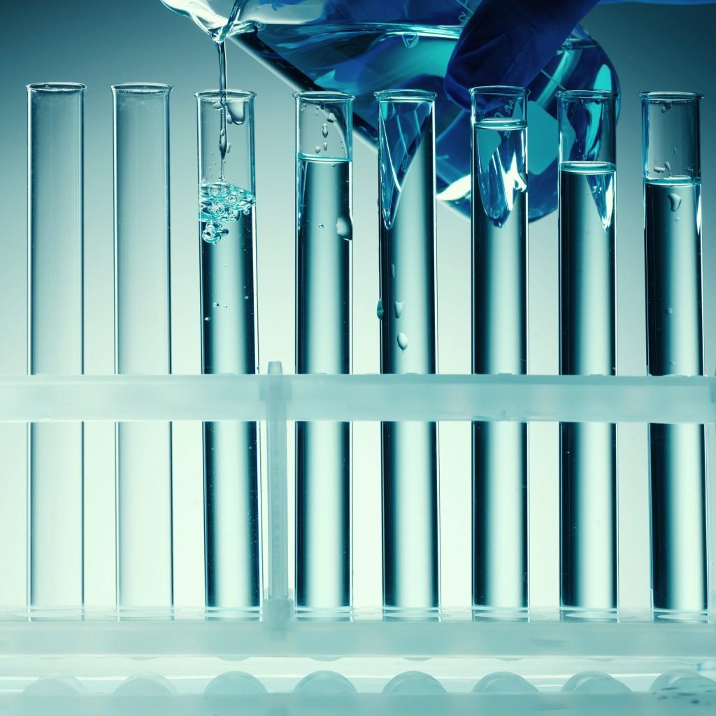 Tubs d'assaig blaus verds