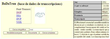 BaDaTran (Base de Dades de Transcripcions