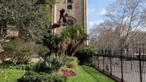 Vista del jardín, zona Gran Via-Aribau