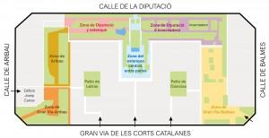 Plano de distribución del jardín