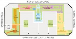 Plànol de distribució del jardí