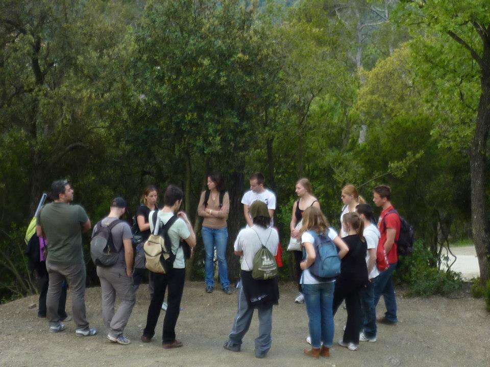 Estudiants del curs anterior a Collserola