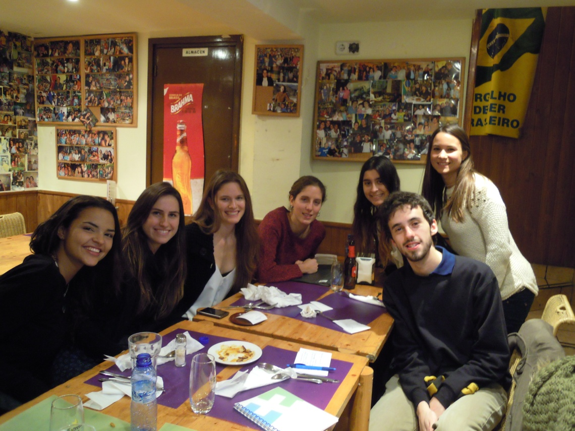 Un dels grups d'intercanvi català-portuguès