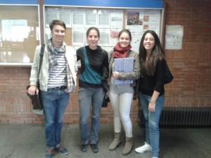 El Julien, la Júlia, la Mireia i la Cristina