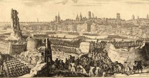 Representació del setge borbònic de Barcelona de 1713 - 1714 feta per Jacques Rigaud
