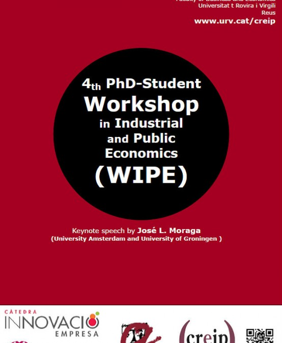Crida per rebre articles, 4rt Workshop Predoctoral en Economia Pública i industrial (WIPE)