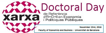 XREPP Doctoral Day 2016 – Programa Definitiu
