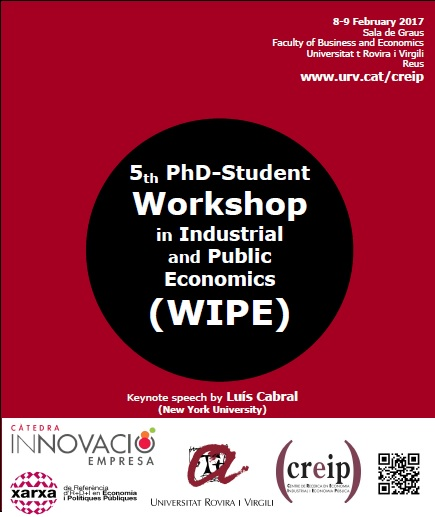 5th PhD-Student Workshop on Industrial and Public Economics (WIPE), Call for Papers