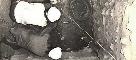Excavación. Cueva Hora. Granada.