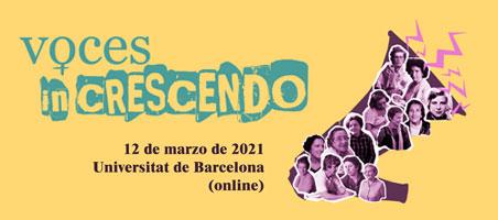 """Parte del cartel de """"Voces in crescendo"""" creado por José Luis Martínez Boix"""