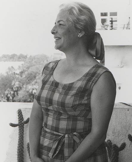 Pilar Acosta en su casa de Almería.   Fotografía cedida por Mauro S. Hernández Pérez