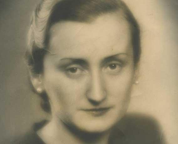 Maria Luz Navarro. Foto de 1946