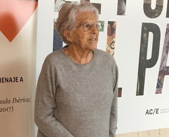 Glòria Trías Rubiés, el 14 de diciembre de 2017, en la Jornada de homenaje celebrada en el Museo Arqueológico Nacional © Paloma Cabrera