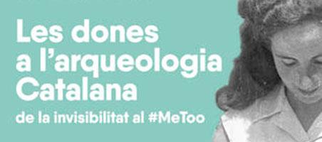 """Detalle del cartel del ciclo de conferencias """"Les Dones a l'Arqueologia catalana"""""""