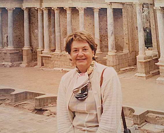La arqueóloga Anna M. Adroer i Tasis. ©Foto: Archivo Familia Adroer i Tasis