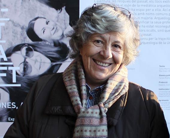 Gabriela Martín Ávila en la exposición Desmuntant Lara Croft de la Universitat de València, 2012. Foto A. Vizcaíno.