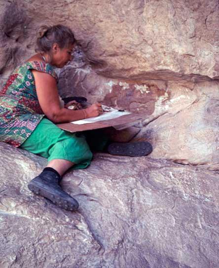 Rosalie de Méric en el Barranco de los Grajos en 1970. Foto de Michael Walker.