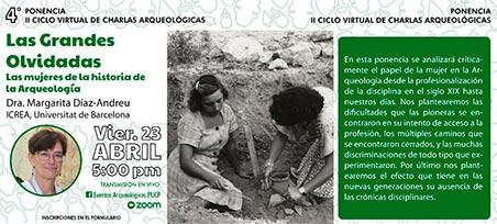 Cartel: Las grandes olvidadas: las mujeres de la historia de la Arqueología