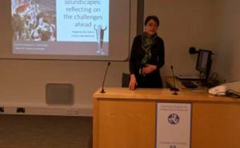 Prof. Margarita Díaz-Andreu at the McDonald Institute for Archaeological Research, University of Cambridge