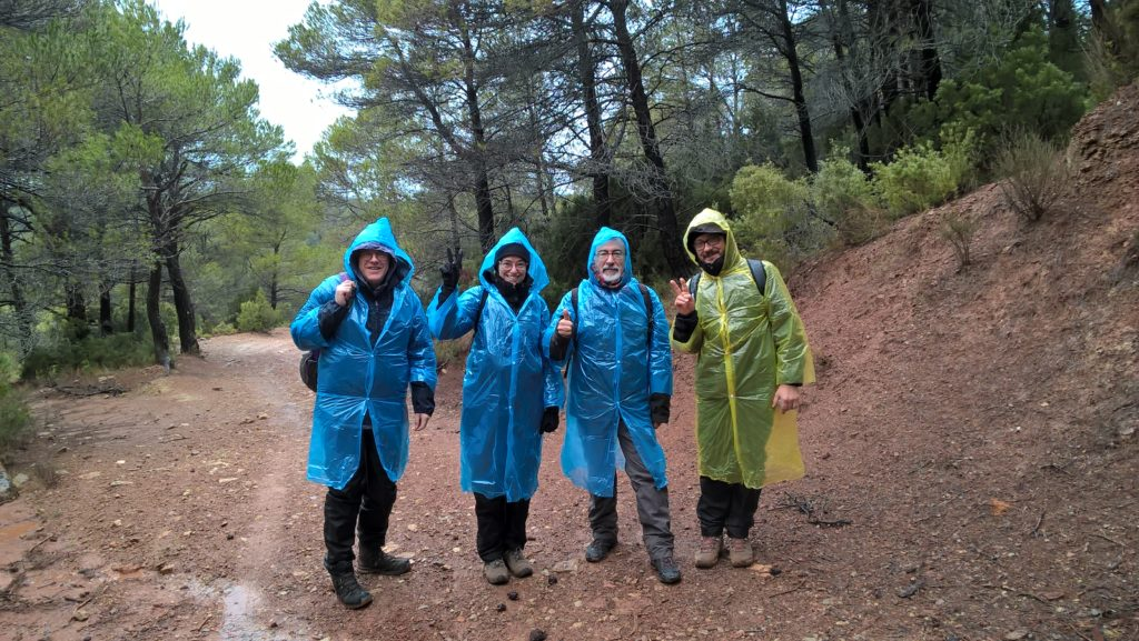 On our way to Fonscaldes Canyon (Siurana, Catalunya). From left to right: Michael Rainsbury; Margarita Díaz-Andreu; Ramon Viñas; Tommaso Mattioli.