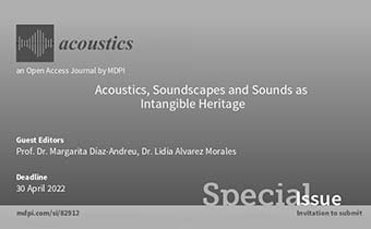 """Special Issue on """"Acoustics, Soundscapes and Sounds as Intangible Heritage"""" led by Dr. Lidia Alvarez and Prof. Dr. Margarita Díaz-Andreu, is ready for submissions"""