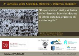 II Jornadas sobre Sociedad, Memoria y Derechos Humanos a Viedma, Argentina