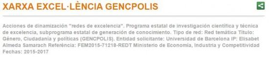 Página web Red de Excelencia GENCPOLIS