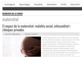 Núria Vergés Bosch a El Critic sobre dones, corresponsabilitat i tècniques de reproducció assistida