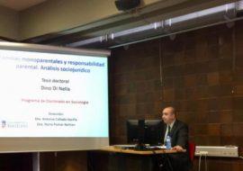 Dino Di Nella llegeix la seva tesis doctoral