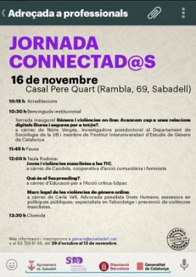Dra Núria Vergés Bosch da la charla inaugural para la Jornada conectada@s contra las violencias en línea